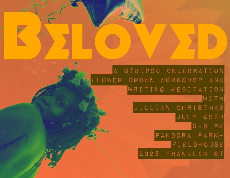 Beloved: Flower Crown Workshop at the Pandora Park Fieldhouse